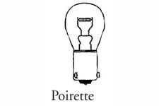 Lot 10 ampoules poirette 12 Volts 21/5 Watts
