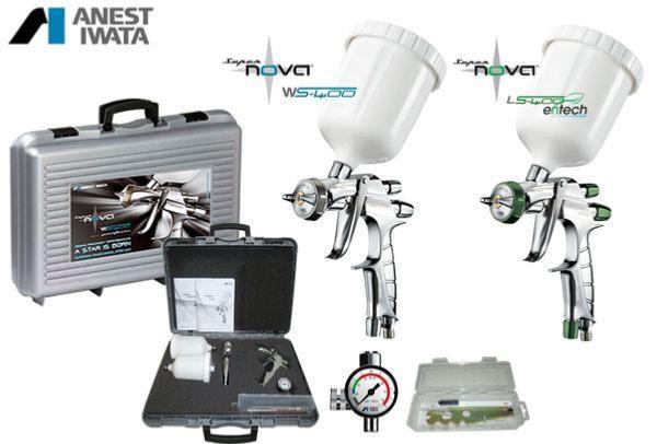 mallette de pistolets de peinture iwata supernova ls400 et ws400 evo. Black Bedroom Furniture Sets. Home Design Ideas