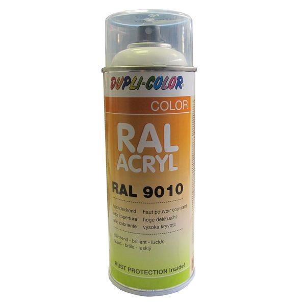A rosol peinture ral 9010 blanc pur brillant 400 ml - Temps de sechage peinture auto avant vernis ...