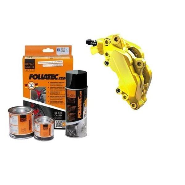 kit peinture triers de freins jaune brillant foliatec. Black Bedroom Furniture Sets. Home Design Ideas