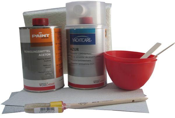 Kit de r paration polyester et fibre de verre for Enlever fibre de verre